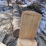玉切りでできた椅子